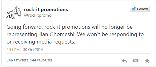 rock-it promotions tweet